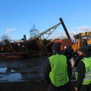 Що ж насправді трапилося в Хриплині, що поблизу Івано-Франківська, під час падіння баштового крана. ФОТО