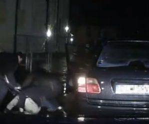 """Підпитий 18-річний франківець на """"Мерседесі"""" вночі спробував утекти від патрульних. ВІДЕО"""