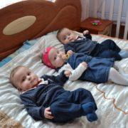 Прикарпатська родина, в якій народилася трійня, отримала сертифікат на 100 тисяч гривень. ФОТО