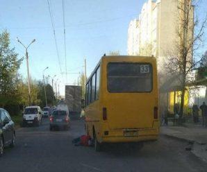 В Тернополі загорілася маршрутка разом з пасажирами