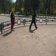 В середмісті Франківська з балкону знову обвались штукатурка