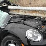 Відбійник прошив машину наскрізь: з'явились фото з місця моторошної ДТП на Прикарпатті (фото)