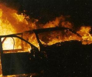 В Калуші згорів автомобіль «ВАЗ 2105»