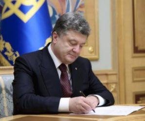 Порошенко підписав закон, який визначає мінімальний вік стaтeвoгo повноліття