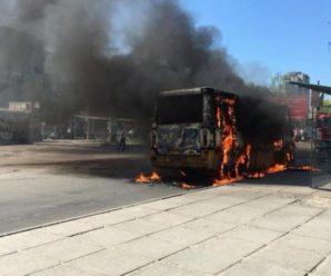 У Львові ущент згоріла маршрутка