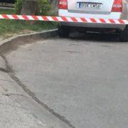 У центрі Івано-Франківська під колесом машини знайшли предмет схожий на гранату