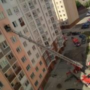 У Франківську горить багатоповерхівка (фото)