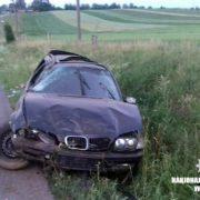"""На Прикарпатті п'яний водій на """"BMW"""" злетів у кювет, пасажир у лікарні. ФОТО"""
