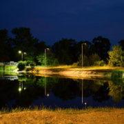 У Франківську на Німецькому озері встановили освітлення (фото)
