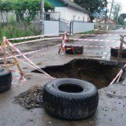У Коломиї провалилася дорога