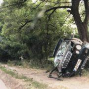 На Франківщині легковик злетів з дороги і перекинувся. ФОТО