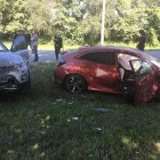 Під Франківськом сталася ДТП, зіткнулися три автомобілі,є постраждалі (ФОТО)