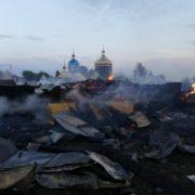 Філарет благословив парафіян, які збирають кошти на відбудову згорілого храму у Новиці (фото+відео)