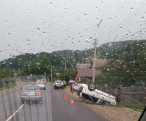В Яремчі перекинувся автомобіль. ФОТО