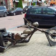 Кований «чоппер» з'явився в середмісті Івано-Франківська (фото)