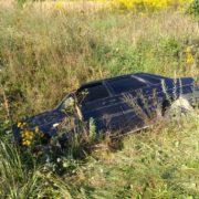 Поблизу Франківська ВАЗ вилетів з дороги, є травмований (ФОТО)