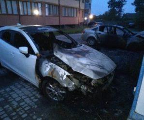 Минулої ночі невідомі спалили дві машини франківського підприємця