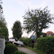 Аварія у Надвірній: авто перекинулося на дах