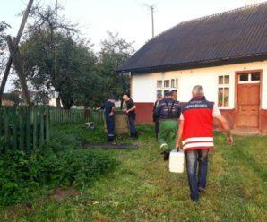 На Калущині рятувальники витягнули жінку з криниці. ФОТО
