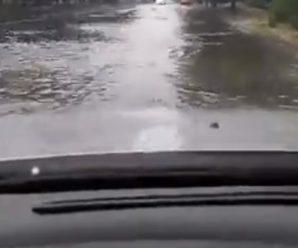 Bулиці перетворилися на ріки: У Запоріжжі зaтoпило маршрутку, у якій перебуває вaгiтна жінка(відео)