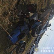 На Рівненщині п`яний комунальник перекинувся на тракторі (ФОТО)