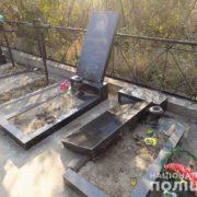 Поліція затримала підлітків, які валили могили на кладовищі