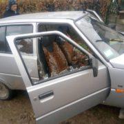 На Долинщині працівниця органів управління напала на машину та розбила бокове скло