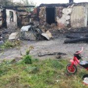 На Прикарпатті через пожежу без житла залишилась жінка з двома дітьми. ФОТО