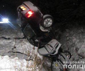 На Івано-Франківщині п'яний водій злетів у кювет з пасажирами