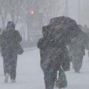 В Україні оголосили штормове попередження, пройде сніг із дощем