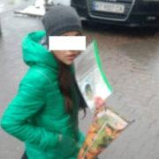 В Івано-Франківську жебракувала неповнолітня дівчина (фото)