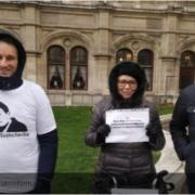 У столиці Австрії пройшла акція на підтримку українських політв'язнів