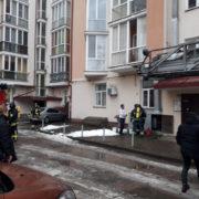 В середмісті Івано-Франківська горить ресторан (фотофакт)