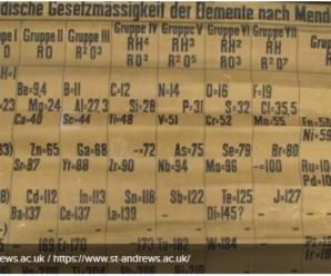 У Великобританії знайшли найстарішу таблицю Мендєлєєва: фото