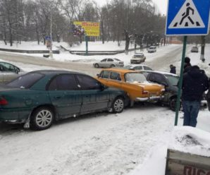 На Хмельниччині сталася ДТП за участі п`яти автівок (ФОТОФАКТ)