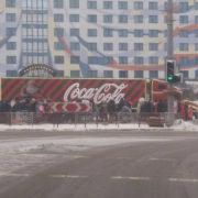 До Франківська приїхала новорічна вантажівка «Coca-Cola» (фото)