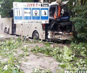 Автобус з 26 пасажирами влетів у дерево. Є загиблий і постраждалі(ФОТО,ВІДЕО)