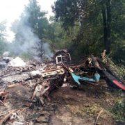 Літак з українцями впав під Полтавою: «вигорів дотла», кадри з місця трагедії
