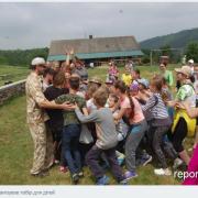 На Прикарпатті учасник АТО організував нетиповий дитячий табір. ФОТО