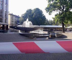 """Стало відомо, хто """"мінував"""" франківський фонтан"""