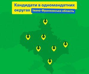 Слуга Народу показала своїх кандидатів на округах Прикарпаття (СПИСОК)