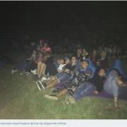 У селі на Калущині організували кінотеатр під відкритим небом. ФОТО