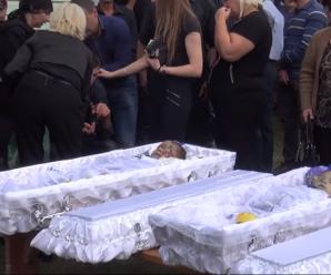 На Прикарпатті попрощались з дітьми, які загинули у ДТП(ФОТО,ВІДЕО)