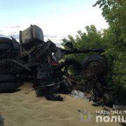 Смертельне зіткнення зерновозів: водії та пасажир померли на місці (фото)