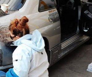 Чоловік просто попросив дружину замалювати царапину на бампері. Коли вранці він поглянув на машину, у нього щелепа відвисла