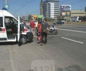 ДТП на Івасюка: мотоцикл влетів в машину (ФОТО)
