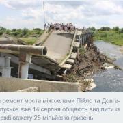 Для ремонту зруйнованих стихією на Прикарпатті мостів потрібно 610 мільйонів гривень — ПБС