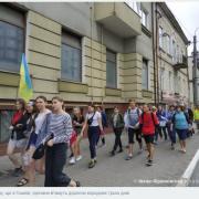 Учасники молодіжної прощі до Гошева заночують у Калуші. ВІДЕО