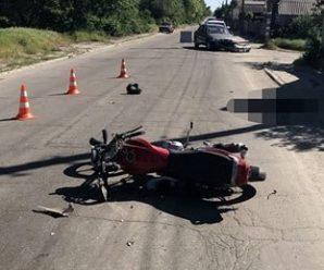 На Прикарпатті мотоцикл влетів у причеп – водій помер