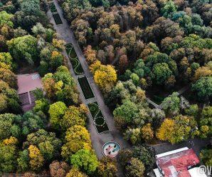 У мережу виклали неймовірні фото осіннього парку з висоти пташиного польоту